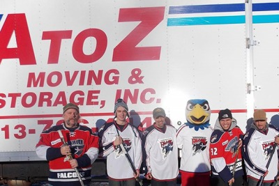 A to Z Moving & Storage, Inc. with hockey Springfield Thunderbirds